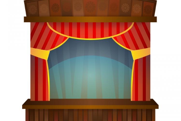 Illustrazione di un palcoscenico