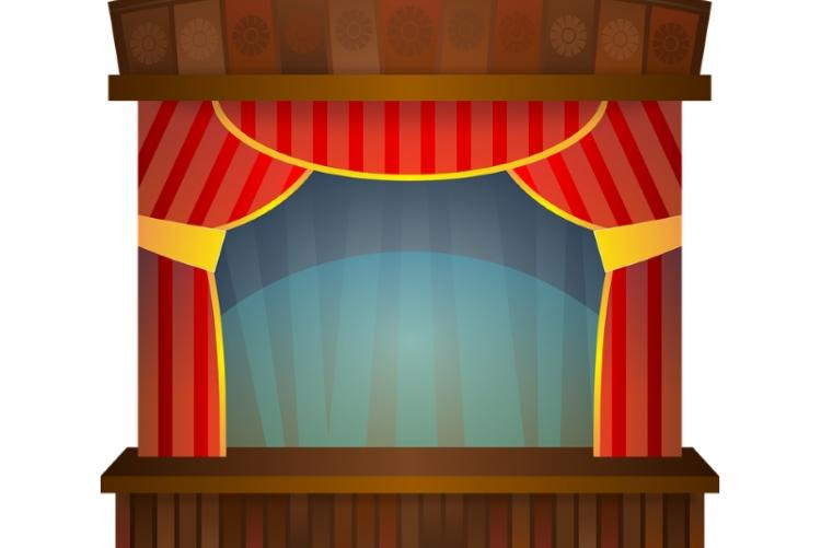 rappresentazione grafica di un palcoscenico