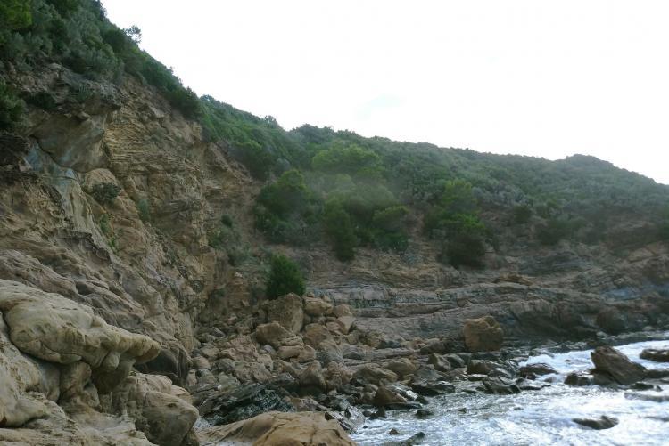Foto scogliera a Calignaia