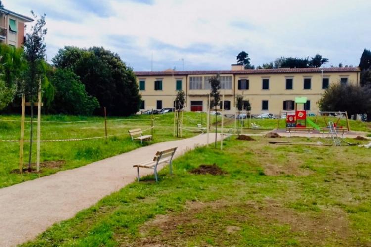 Foto del nuovo parco dopo i lavori di riqualificazione