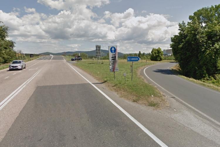Foto di via Pian di Rota all'ingresso della Variante in direzione sud
