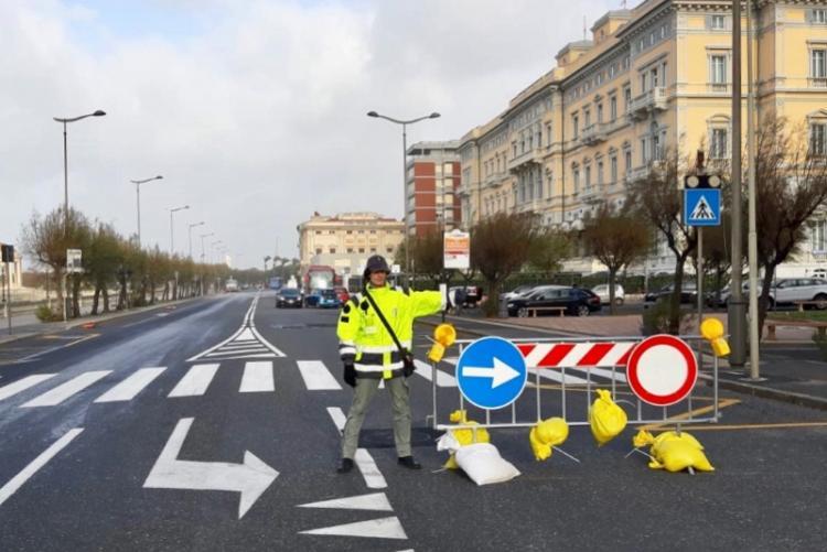 Foto del viale Italia chiuso al traffico