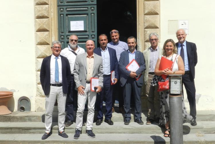 Immagine dell'incontro a Villa Letizia