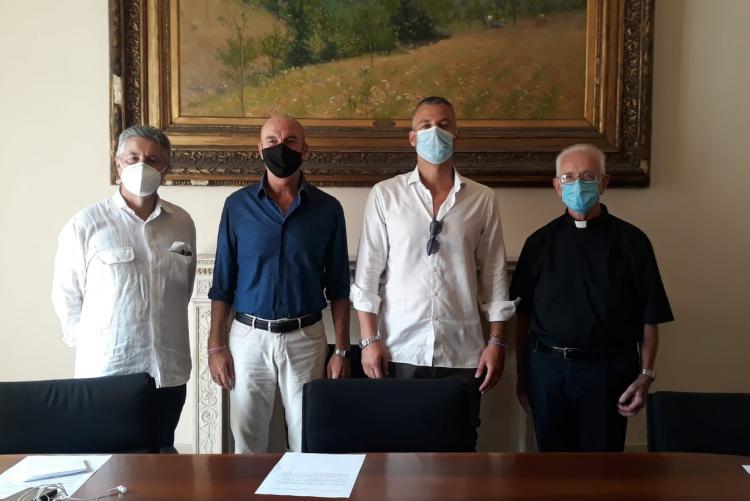 I relatori della conferenza stampa