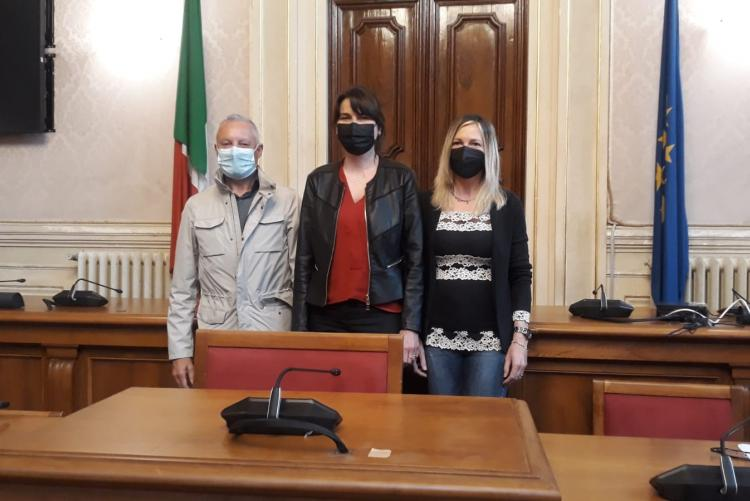 Assessora Cepparello, Ingegneri Elga Pellegrini e Luca Barsotti