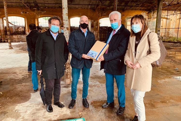 visita presidente regione giani sindaco a ex pirelli per nuovo ospedale