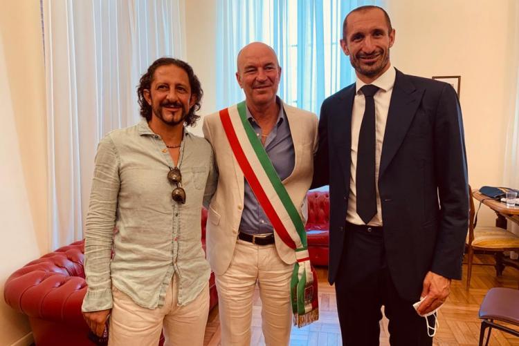 Il Sindaco, Igor Protti e Giorgio Chiellini